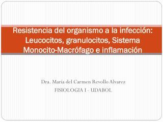 Dra. María del Carmen Revollo Alvarez FISIOLOGIA I - UDABOL