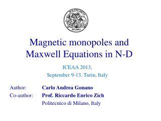 Author:  Carlo Andrea Gonano Co-author:  Prof. Riccardo Enrico Zich