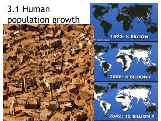 3.1 Human population growth