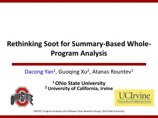 Rethinking Soot for Summary-Based Whole-Program Analysis