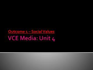 VCE Media: Unit 4