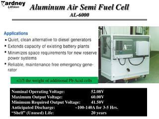Aluminum Air Semi Fuel  Cell AL-6000