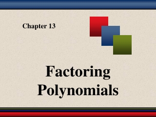 Chapter 3: Polynomials