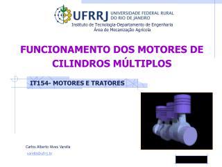 FUNCIONAMENTO DOS MOTORES DE CILINDROS MÚLTIPLOS