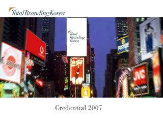 Credential 2007