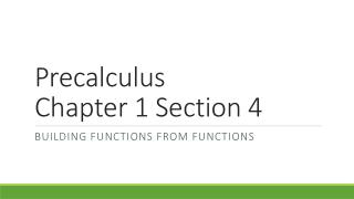Precalculus Chapter 1 Section 4
