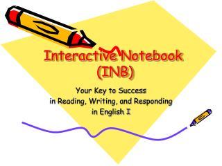 Interactive Notebook  (INB)