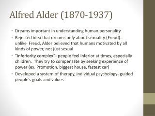 Alfred Alder (1870-1937)