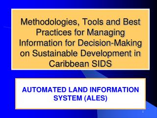 AUTOMATED LAND INFORMATION SYSTEM (ALES)