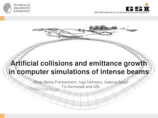 Artificial collisions and emittance growth  in  computer simulations of intense beams