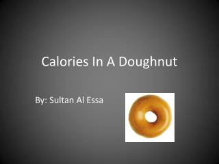 Calories In A Doughnut