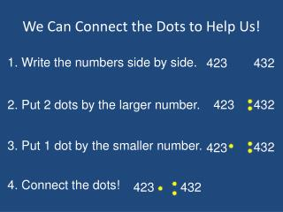 We Can Connect the Dots to Help Us!