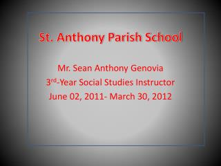 St. Anthony Parish School
