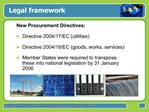 Legal framework for Green Public Procurement GPP