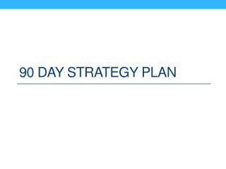 90  Day Strategy Plan