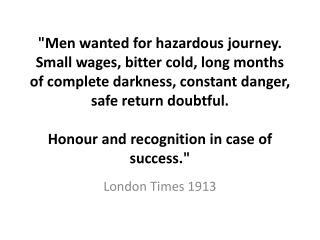 London Times 1913