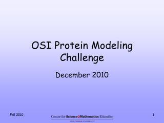 OSI Protein Modeling Challenge
