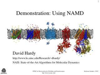 Demonstration: Using NAMD