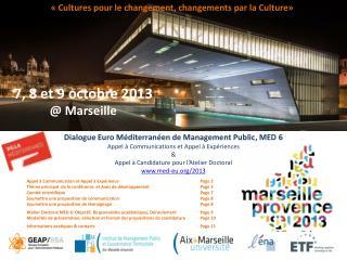Dialogue Euro Méditerranéen de Management Public ,  MED 6