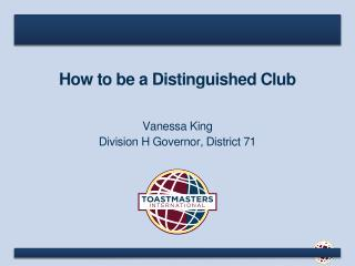 How to be a Distinguished Club