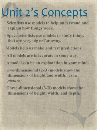 Unit 2's Concepts