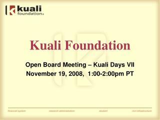 Kuali Foundation