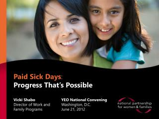 Paid Sick Days :  Progress That's Possible
