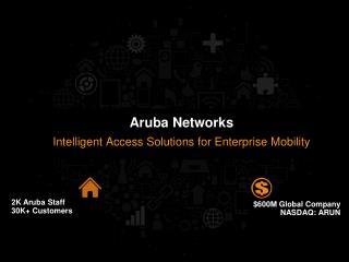 2K Aruba Staff 30K+ Customers