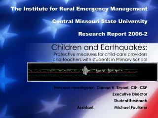 Children and Earthquakes: Protective measures for child-care providers and teachers with students in Primary School