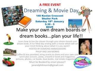 Dreaming & Movie Day Make your own dream boards or dream books...plan your life!!