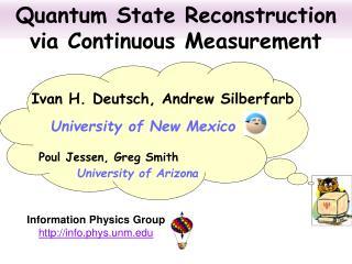 Quantum State Reconstruction via Continuous Measurement