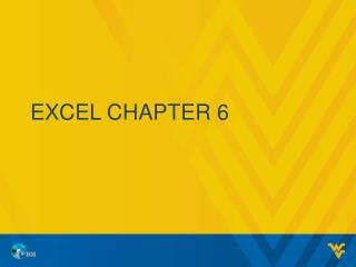 Excel chapter 6