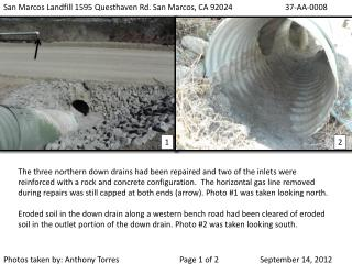San Marcos Landfill 1595 Questhaven Rd. San Marcos, CA 92024		37-AA-0008
