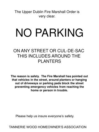 The Upper Dublin Fire Marshall Order is very clear.