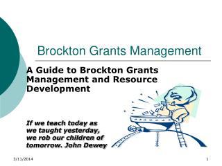 Brockton Grants Management