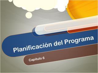 Planificación del Programa