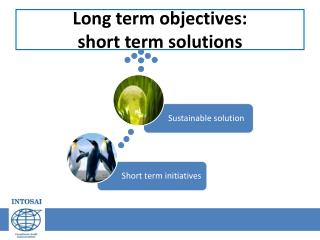 Long term  objectives : short  term  solutions