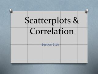 Scatterplots & Correlation