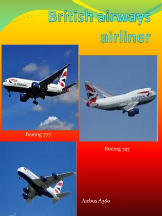 British airways airliner