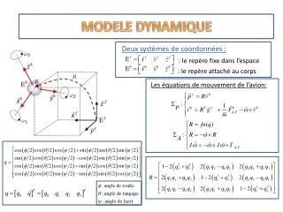 Deux systèmes  de  coordonnées  : : le repère fixe dans l'espace