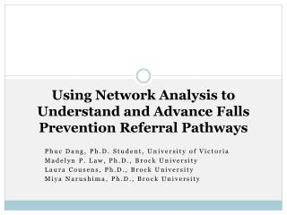 Using Network Analysis to Understand and Advance Falls Prevention Referral Pathways