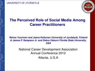 The Perceived Role of Social Media Among Career Practitioners