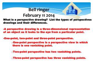 Bell ringer February  11  2014