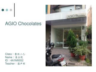 AGIO Chocolates