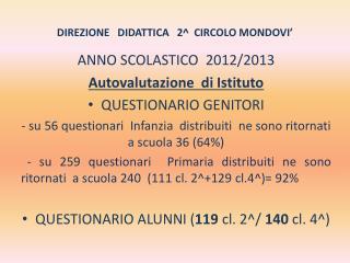 DIREZIONE   DIDATTICA   2^  CIRCOLO MONDOVI'