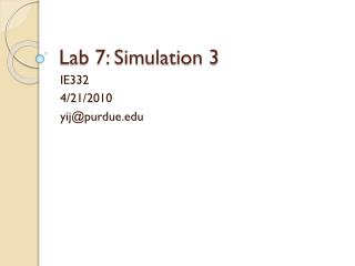 Lab 7: Simulation 3