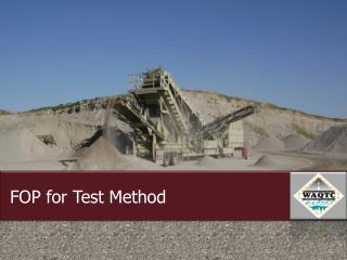 FOP for Test Method