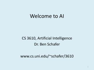 Welcome to  AI