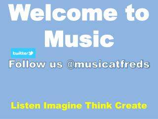 Welcome to Music