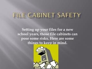 File Cabinet Safety